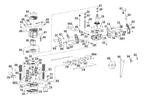 Ricambi Fresatrici verticali TH-RO 1100 E