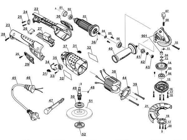 Refacciones Amoladora RT-AG 125/1