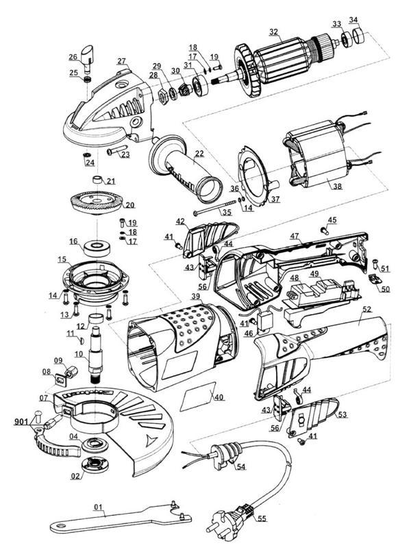 Ersatzteile Winkelschleifer RT-AG 230