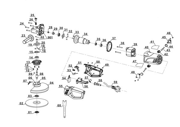 Refacciones Amoladora BT-AG 2350