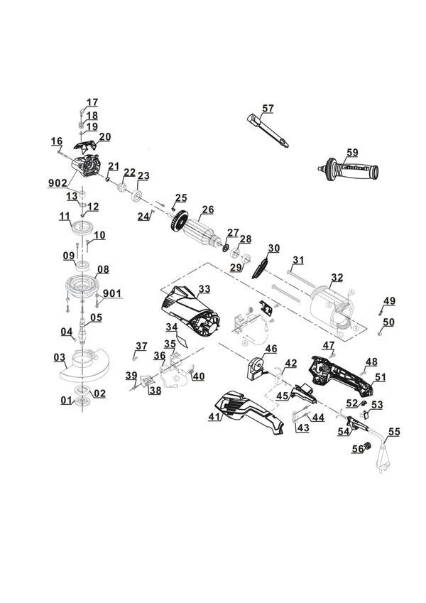 Refacciones Amoladora TE-AG 125 CE