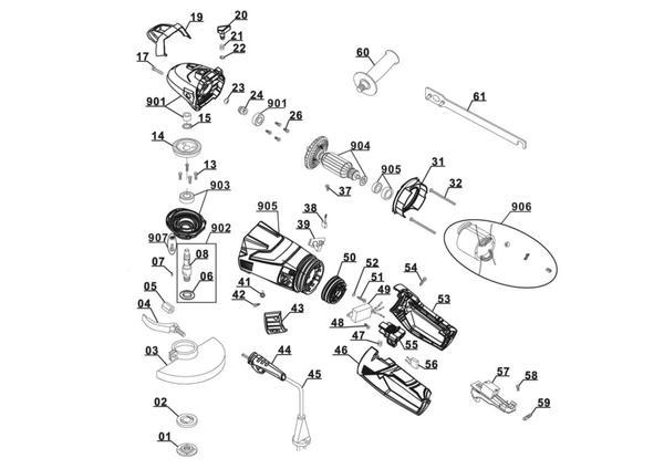 Refacciones Amoladora TE-AG 230