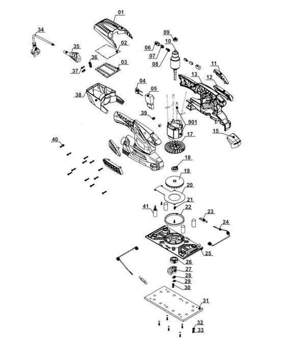 Ersatzteile Schwingschleifer RT-OS 30