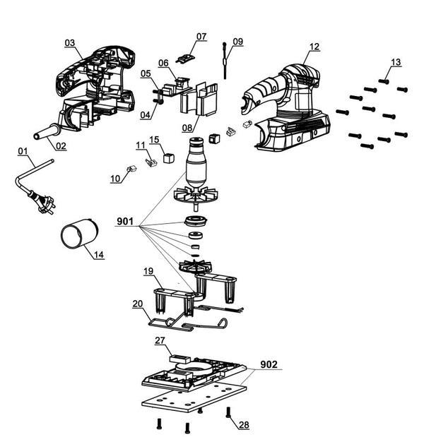 Ricambi Levigatrice orbitale TH-OS 1520
