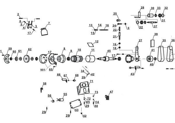 Refacciones Esmeriladora de banda TH-US 240