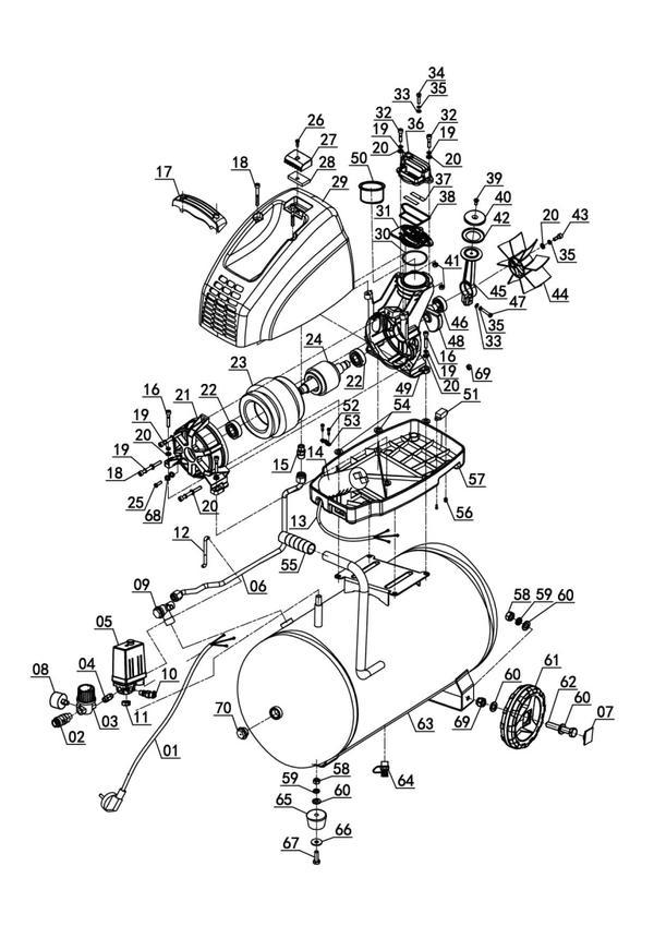 Peças de reposição Air Compressor TH-AC 200/24 OF