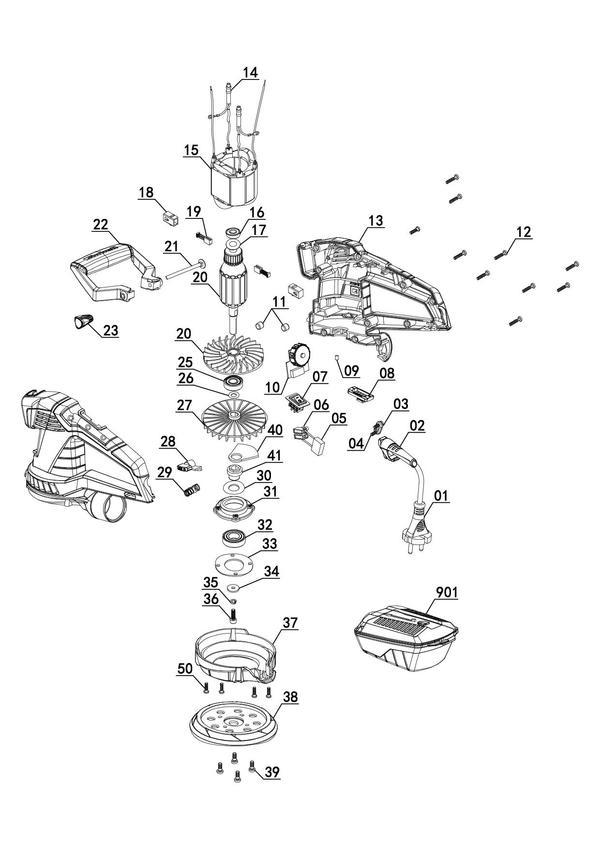 Peças de reposição Rotating Sander TE-RS 40 E