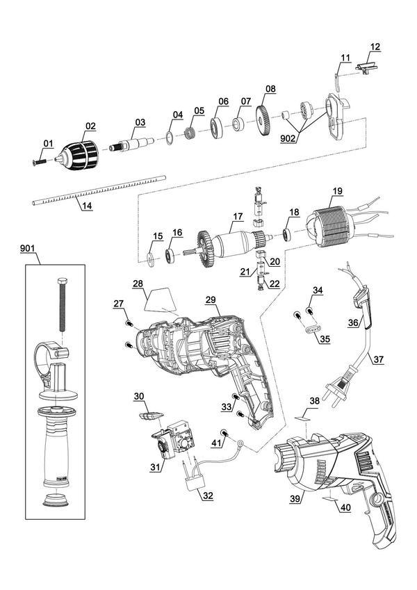 Spareparts Impact Drill TE-ID 500 E