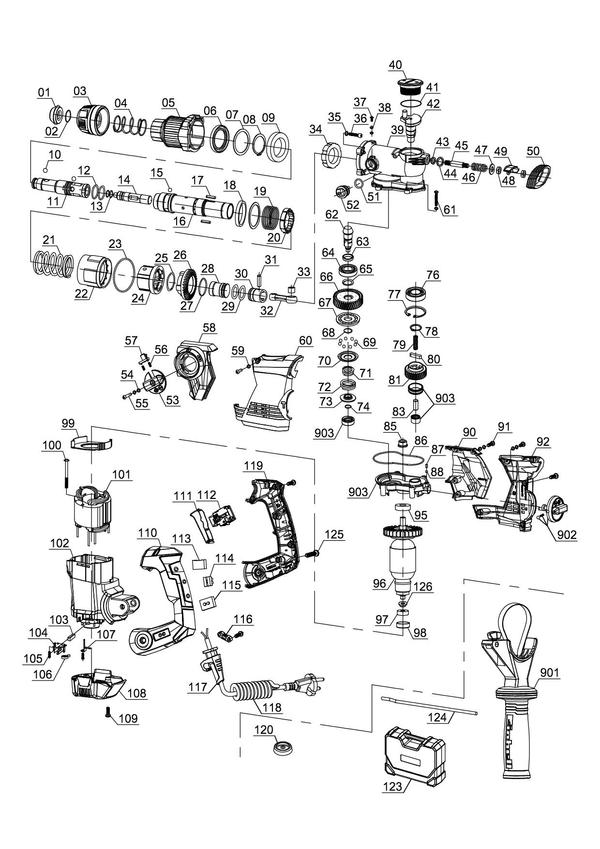 Refacciones Ciocan rotopercutor TE-RH 32 E