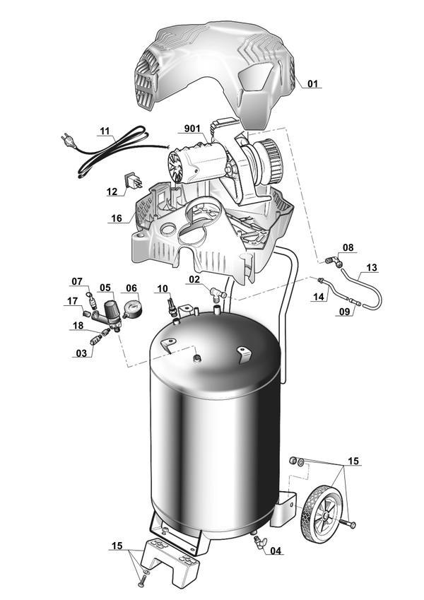 Peças de reposição Air Compressor TH-AC 240/50/10 OF