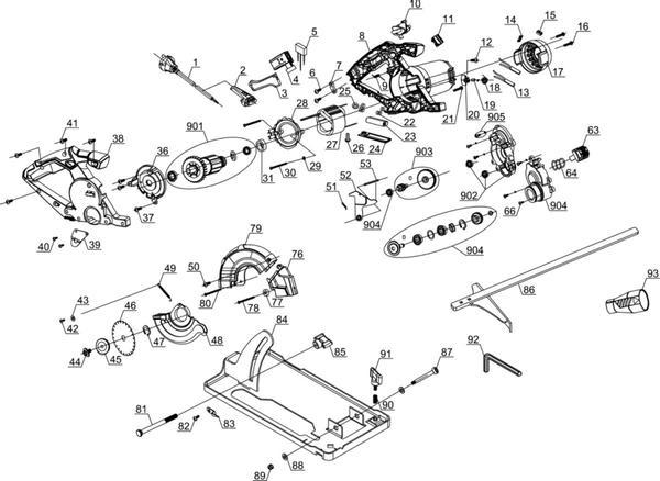 Ersatzteile Universal-Handkreissäge TE-XC 110/1