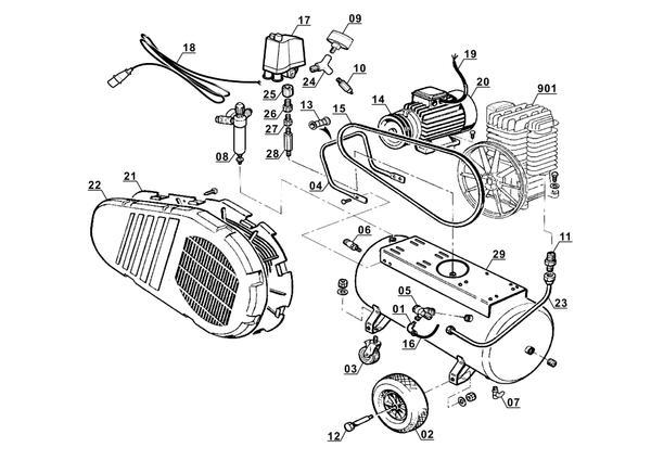 Ersatzteile Kompressor TE-AC 400/100/10 D