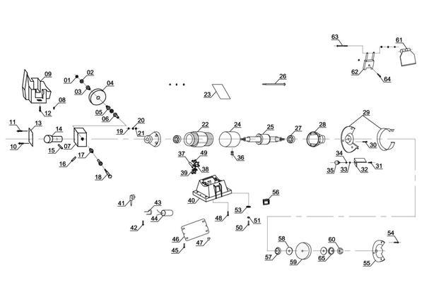 Refacciones Esmeriladora seco-húmedo TC-WD 150/200