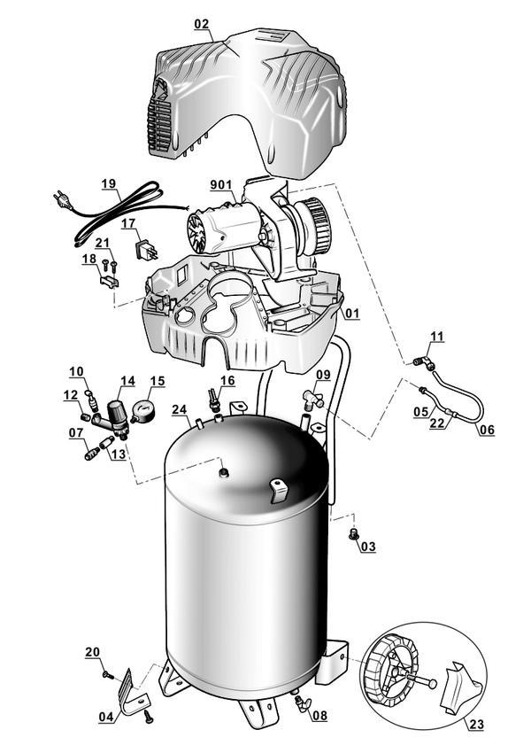 Spareparts Air Compressor TH-AC 200/30 OF