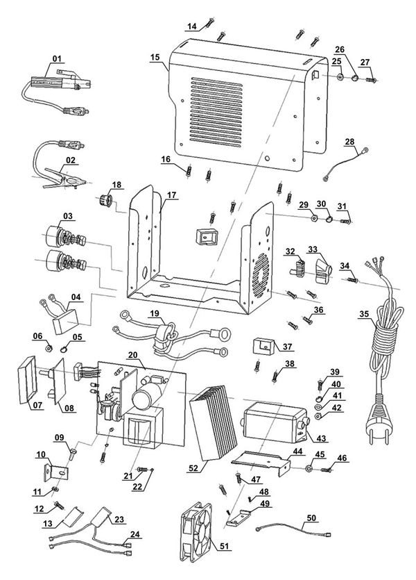 Tartalék alkatrészek Inverteres hegesztőgép BT-IW 100