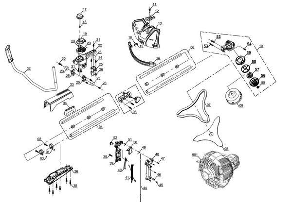 Spareparts Petrol Scythe GE-BC 43 AS