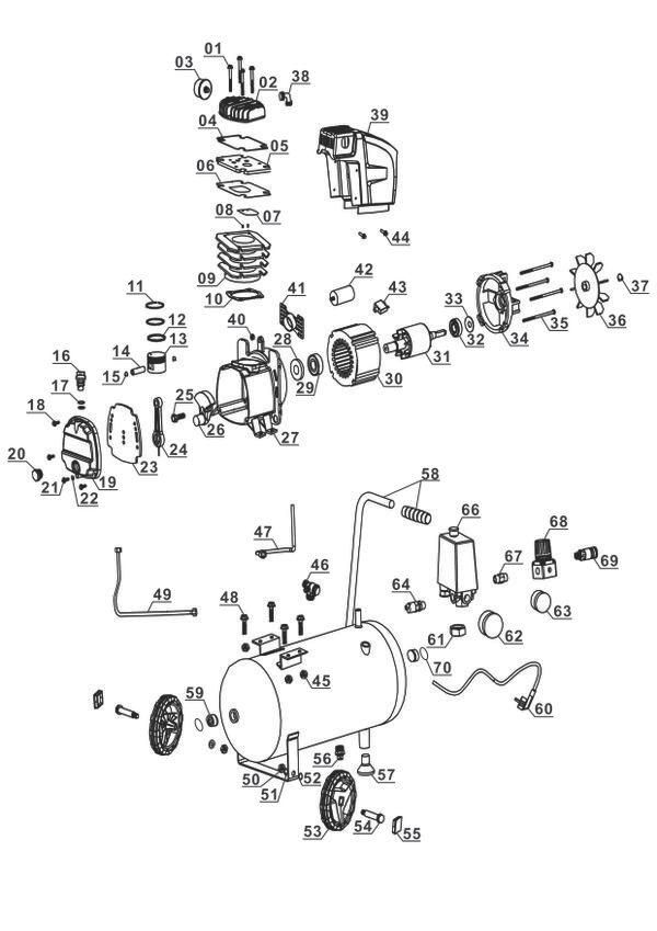 Tartalék alkatrészek Kompresszor TE-AC 230/24
