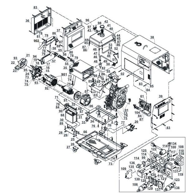 Ersatzteile Stromerzeuger (Diesel) BT-PG 5000 DD