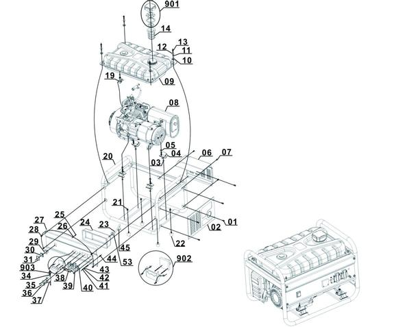 Ricambi Generatori di corrente (benzina) BT-PG 2800/1