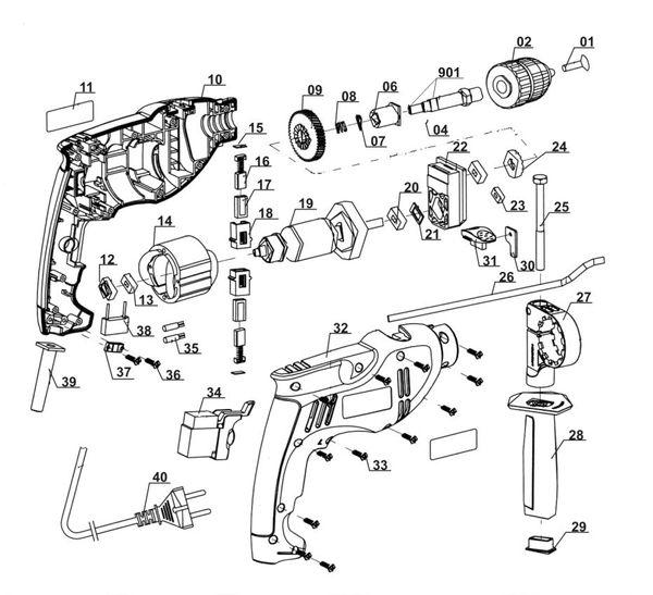 Ersatzteile Schlagbohrmaschine TC-ID 710 E