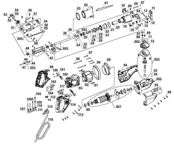 Ersatzteile Universalsäge RT-AP 1050 E