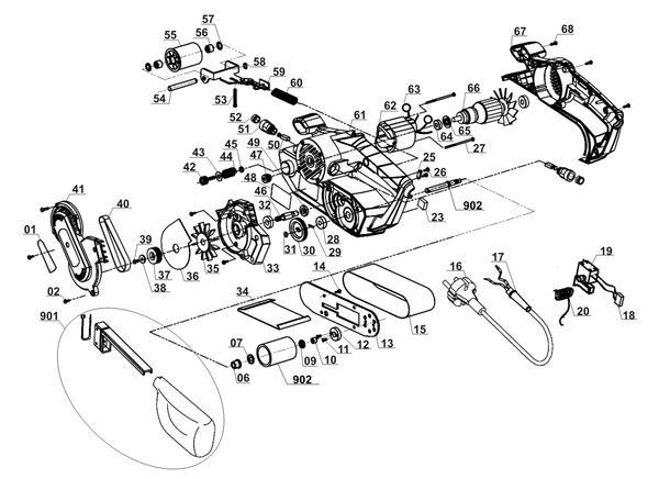 Spareparts Belt Sander TC-BS 8038