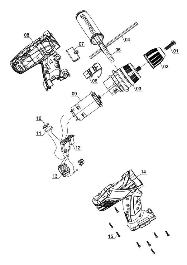 Spareparts Cordless Impact Drill TE-CD 18-2 Li-i - Solo