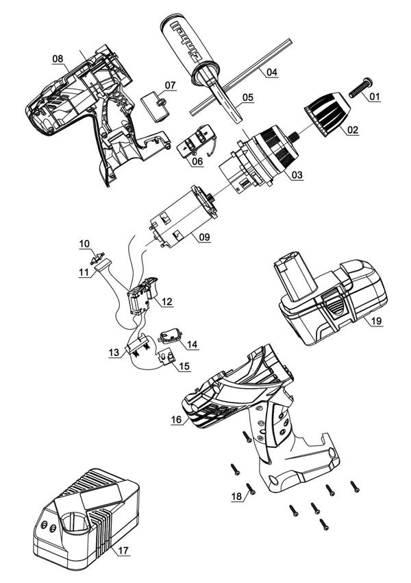 Ersatzteile Akku-Schlagbohrschrauber TE-CD 18-2 i