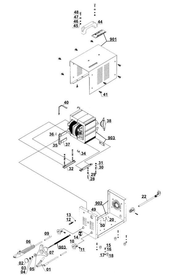 Ersatzteile Elektro-Schweissgerät BT-EW 150