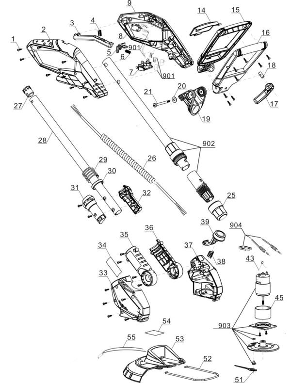 Spareparts Cordless Lawn Trimmer GE-CT 18 Li-Solo
