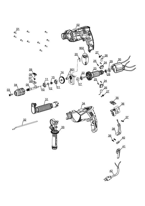Spareparts Impact Drill TE-ID 750 E