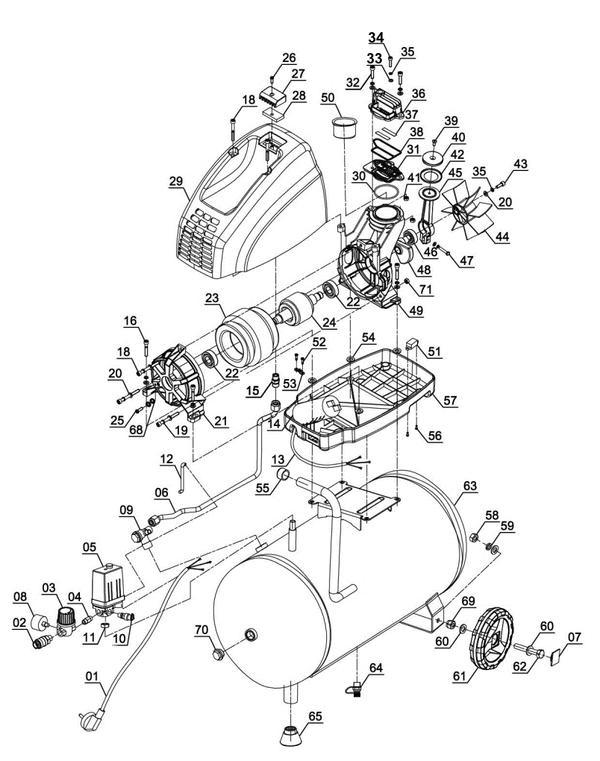 Refacciones Compresor TH-AC 200/24 OF