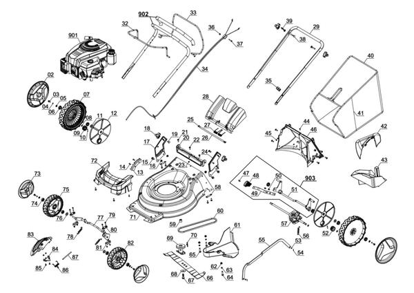 Ersatzteile Benzin-Rasenmäher GC-PM 51/2 S HW B&S