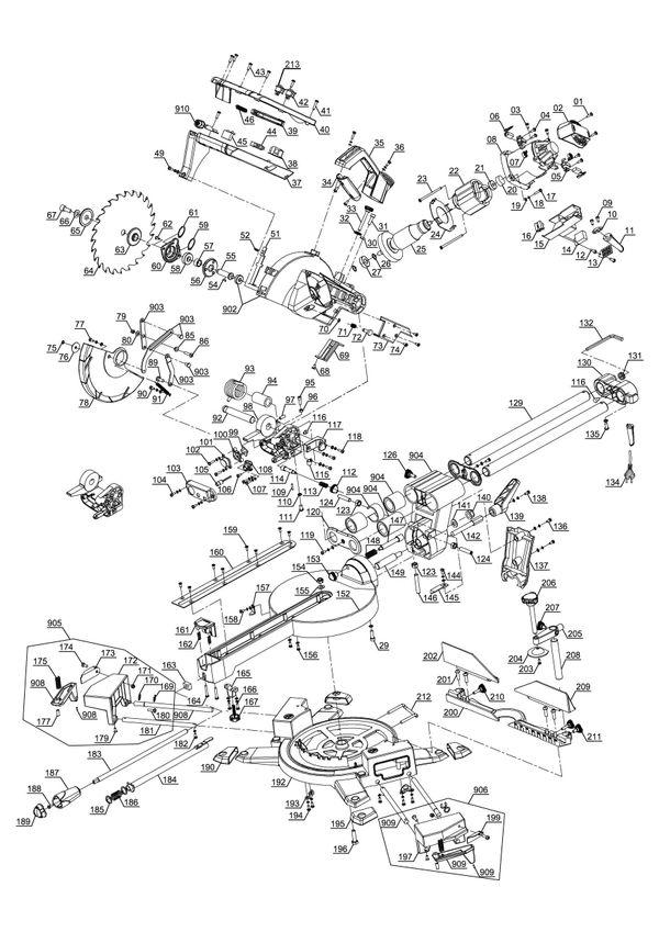 Ersatzteile Zug-Kapp-Gehrungssäge TE-SM 2131 Dual