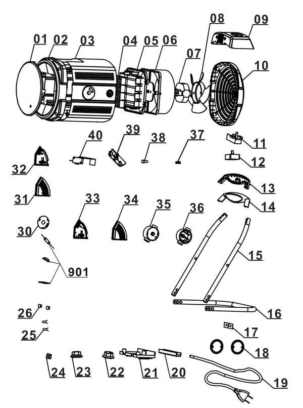 Ersatzteile Heizlüfter KH 1800