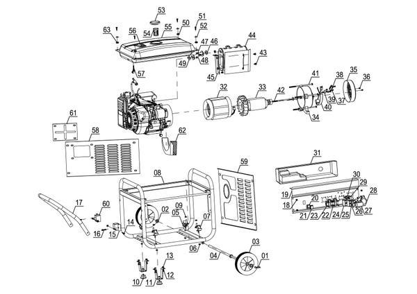 Ersatzteile Stromerzeuger (Benzin) BT-PG 5500/2 D