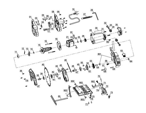 Ersatzteile Handkreissäge TE-CS 165