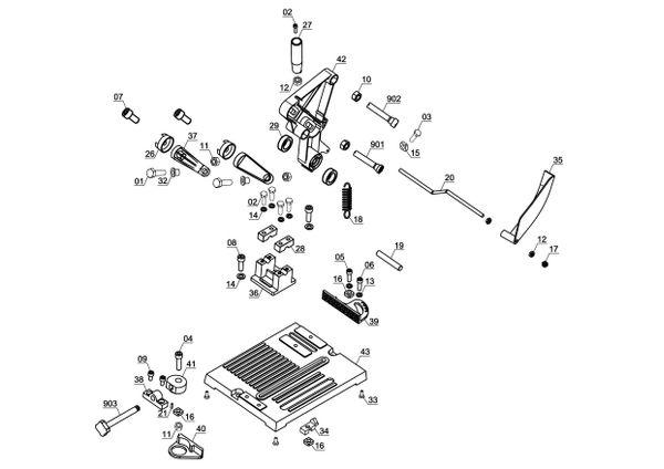 Refacciones Mesa de corte TS 125/115