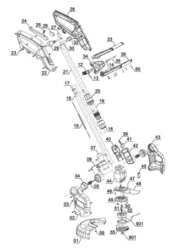 Ersatzteile Elektro-Rasentrimmer GC-ET 4526