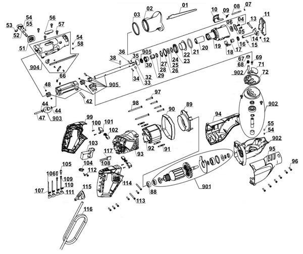 Tartalék alkatrészek Univerzális fűrész TE-AP 1050 E