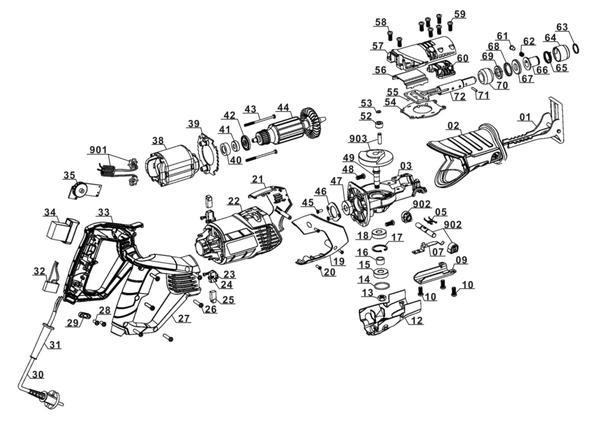 Refacciones Sierra sable TC-AP 650 E