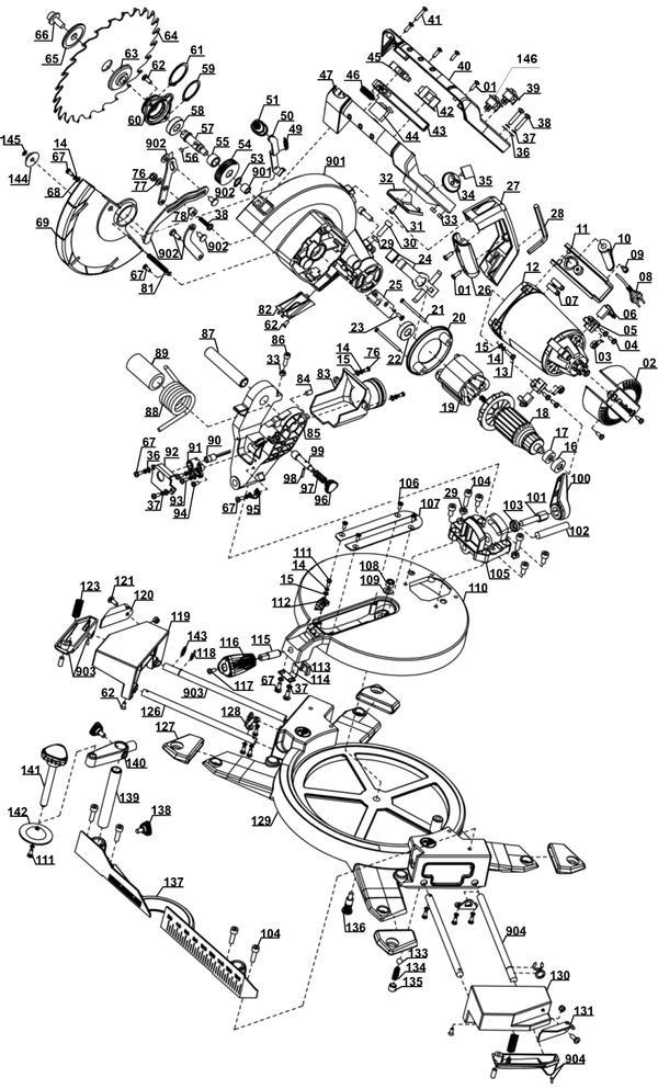 Ersatzteile Kapp-Gehrungssäge TE-MS 2112 L