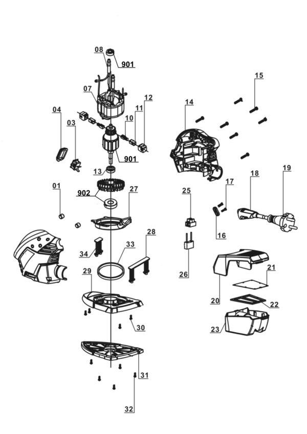 Ersatzteile Multischleifer TE-OS 1320