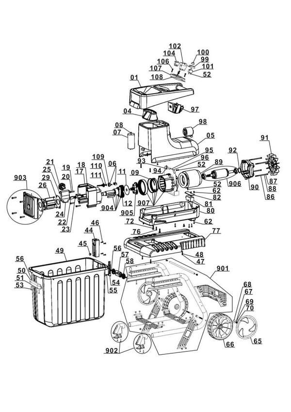 Ersatzteile Elektro-Leisehäcksler GC-RS 2540 CB