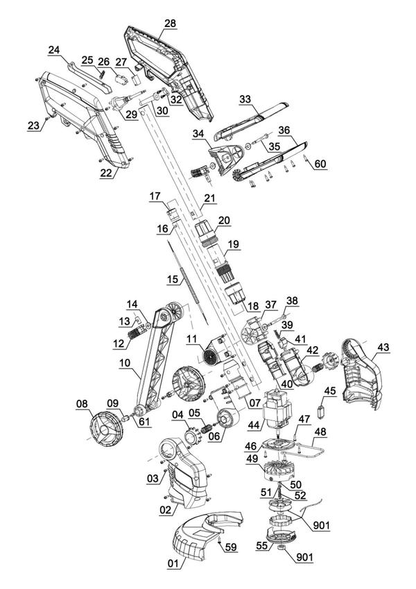 Ersatzteile Elektro-Rasentrimmer GE-ET 4526