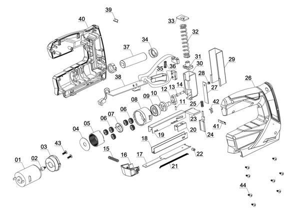 Tartalék alkatrészek Akkus tűzőgép TC-CT 3,6 Li
