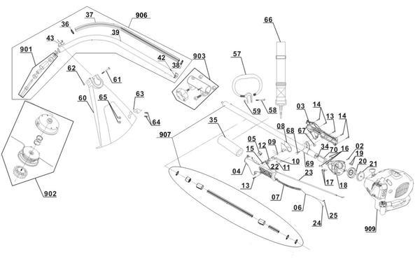 Ersatzteile Benzin-Rasentrimmer GC-PT 2538 I AS