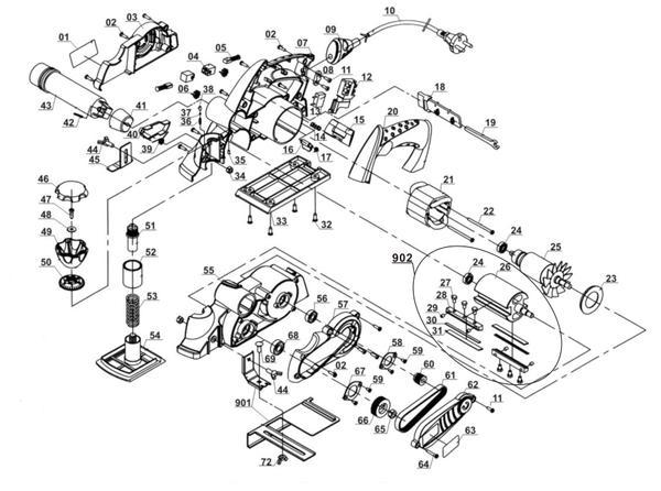Refacciones Cepillo eléctrico TE-PL 850