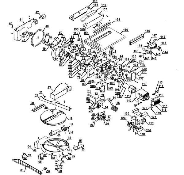 Ersatzteile Kapp-Gehrungssäge m. Obertisch TC-MS 2112 T
