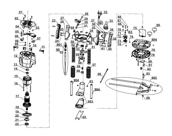 Ersatzteile Oberfräse TE-RO 1255 E